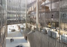 Designs Unveiled for New Australian Embassy in Washington DC,View South from Office floor down to entry. Image Courtesy of Bates Smart