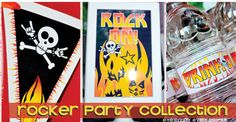 Rocker Party Collection - KISS my (30s) Goodbye - great for milestone birthdays via Eye Candy Event Details #kissbirthday #rockerbirthday #adultbirthdayidea #rockon #rockerparty