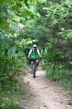 Biking at Green River Lake State Park!