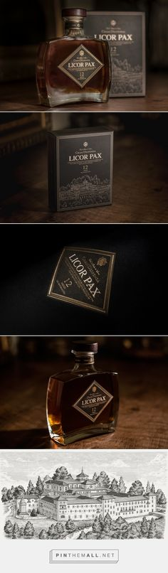 Licor PAX packaging design by Dosdelugo Agencia Creativa - http://www.packagingoftheworld.com/2017/10/licor-pax.html