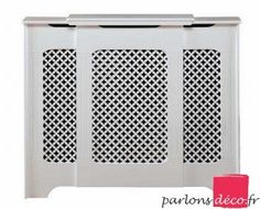 Cache-radiateur classique ajustable max 142cm blanc