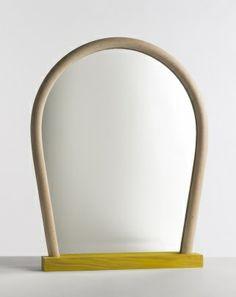 WRONG FOR HAY Bent Wood Mirror spiegel
