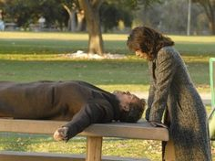 Gregory House and Lisa Cuddy (House MD):     http://apocalyptically.tumblr.com/post/45486335628/house-gregory-house-and-lisa-cuddy