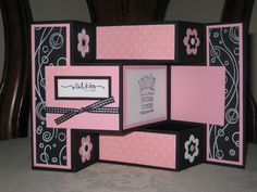 Tri shutter fold card, one of my all time favorites! www.craftymasterpieces.com