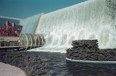 1939 New York Fair: The Electric Utilities Pavilion featured a walk-through waterfall