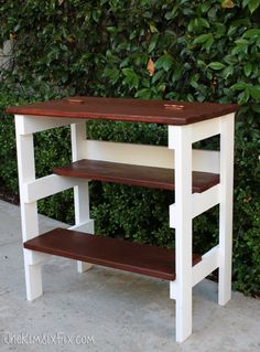 Ana White | Build a Hinged Table Top with Built in Step Stool Featuring The Kim Six Fix | Free and Easy DIY Project and Furniture Plans