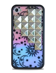 Sun & Moon Silver Studded iPhone 4/4s Case: http://shop.nylonmag.com/collections/whats-new/products/sun-moon-silver-studded-iphone-4-4s-case. #NYLONshop