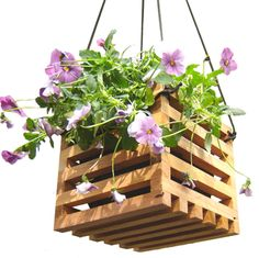 Checkout this amazing deal Hanging Wooden Planter, Small,$43