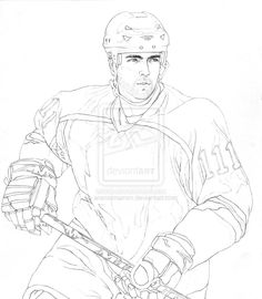 Hockey Line Art | Ice Hockey Player Line Art Aramismarron