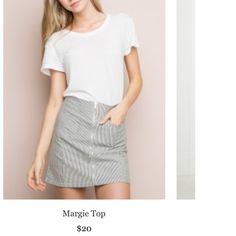 Brandy Melville Margie Top Worn and laundered only once, no flaws! One size Brandy Melville Tops Tees - Short Sleeve