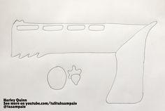 Molde para arma da #harleyquinn #arlequina