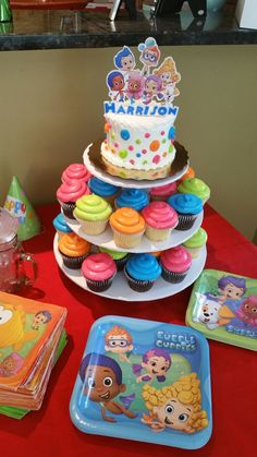 Bubble Guppies birthday cake!  2 year old.