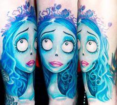 Corpse bride tattoo by Ellen Westholm #InkedMagazine #corpsebride #tattoo #tattoos #timburton #inked #ink #art