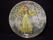 Mother Goose series - Little Bo Peep - Artist John McClelland #FairyTale #ChildrenStories #FairyTales #CollectorPlates #Collectable #Vintage #CollectablePlate #FairyTalePlate #MotherGoose #LittleBoPeep