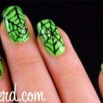 green Halloween nails #iloveavocadosforhalloween