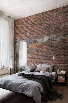 Más de 35 magníficas ideas de diseño de dormitorio industrial para un estilo de dormitorio único . Industrial Bedroom Design, Industrial Interiors, Industrial House, Design Bedroom, Loft Interiors, Urban Industrial, Industrial Lighting, Home Design, Home Interior Design