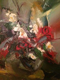 """ზეთის საღებავებით შესრულებული ტილო, """"მიტოვებული ყვავილები"""", ზომა 40 / 50 სმ.... Artist Painting, Paintings For Sale, Online Art Gallery, House, Ideas, Home, Haus, Thoughts, Houses"""