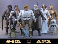 The He-Wars Action Figure Collection With the Style of Star Wars and He-Man