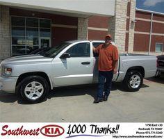 #HappyAnniversary to David Camp on your 2010 #Dodge Truck #Dakota from Gary Guyette  at Southwest KIA Rockwall!