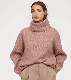 1124046b567 H M Ribbed Turtleneck Sweater Chunky Oversized Sweater