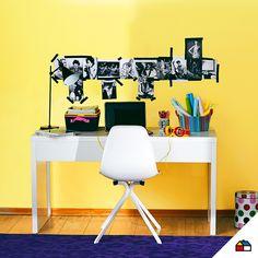Crea tu propio espacio de estudio con la combinación de colores que más te guste. #Sodimac #Homecenter #Pinturas #decora #inspiracion #color #combinacion #escritorio #ambiente #hogar #casa