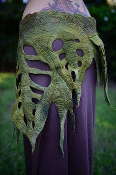 Felt Rain Forest Woodland Nymph Pixie Fairy Elven by frixiegirl Textiles, Pixie, Diy Mode, Fairy Clothes, Woodland Fairy, Cosplay, Fantasy Costumes, Nuno Felting, Larp
