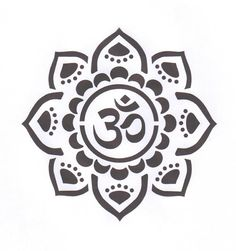 "©The Bead Source - Yoga Om Mandala mylar stencil offered in sizes from 4"" to 8"" / a Mehndi inspired design that you will love creating with / painting on wood, canvas, fabrics  precision cut for you on reusable Duralar, a high performance 5mil clear polyester film"