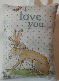 Rabbit Gift / Rabbit Fabric Lavender Bag / I Love You Mother's Day Gift/ Easter