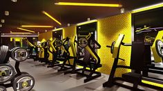 Gym on behance gym interior, club design, gym design, fitness studio, g Gym Mirror Wall, Gym Mirrors, Basement Gym, Modern Basement, Basement Ideas, Gym Lighting, Interior Lighting, Gym Center, Gym Club