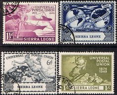 Sierra Leone Stamps 1949 Universal Postal Union Set Fine Used SG Other Sierra Leone Stamps HERE Condition Fine Used Only one post