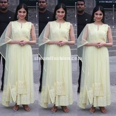 Divya Khosla Kumar in White Anarkali for 3rd un global road safety week at phoenix mall event