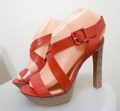 WOMEN Luxury Rebel Ankle-Strap Sandal Coral Red 7.5 M #LuxuryRebel #Strappy