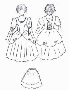 déguisement de princesse (taille 4 ans, grand)