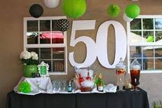 Image result for table decorations for 50th party
