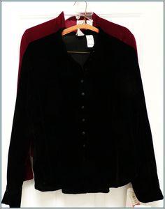 LIZ CLAIBORNE Top  Sz 6  BLACK  Long Sleeve Shirt  .  Button down BLOUSE  NWT #LizClaiborne #ButtonDownShirt