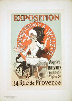 EXPOSITION DE TABLEAUX & DESSINS DE A. WILLETTE / MAITRES DE L'AFFICHE #97