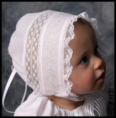 """""""Lauren""""-a Baby Heirloom Cap by Sara Norris 