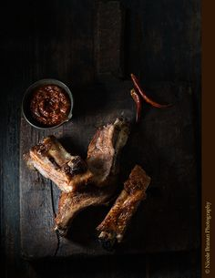 An easy recipe for melt-in-your-mouth pork ribs with spicy chili adobo sauce.