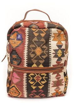 A kilim backpack perfect for all winter long. Waterproof, stylish and one-of-a-kind.