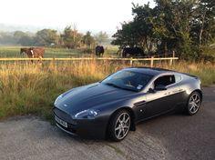 Aston Martin vantage v8 in meteorite grey