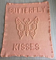 Butterfly Kisses Baby Blanket Pattern  Baby Blanket Pattern