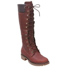 Buy Brown Timberland Women's Premium 14 Inch Waterproof Brown Knee-High Boot shoes LOVE THEM! If I was feeling crazy I would lace them with multi colored laces.