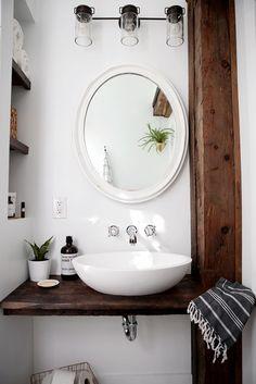 DIY Floating Sink Shelf More