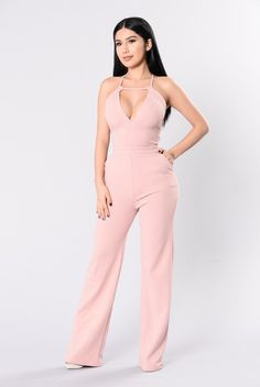Well Dressed Jumpsuit - Pink
