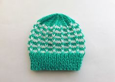 Ravelry: Duet Baby Hat pattern by marianna mel Baby Hat Patterns, Knitting Patterns Free, Free Knitting, Free Pattern, Baby Hats Knitting, Knitted Hats, Premature Baby, Knitting Projects, Color Combinations