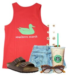 """"""""""" by flroasburn ❤ liked on Polyvore featuring Birkenstock, Forever 21 and H&M"""