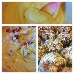 Muffin alle fragole e cioccolato bianco... #cibo #muffin #pasticceria #fragole #cioccolato