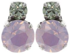 earring stud To Katharine With Love II pink antique silver