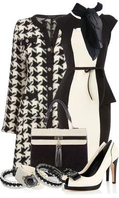 """Classic Peplum Dress"" by stylesbyjoey on Polyvore"