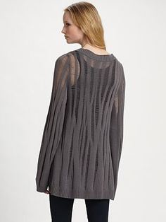 Kimberly Ovitz  Edison Open Knit Sweater--interesting use of dropped stitches.